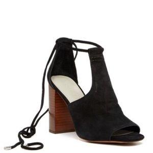 1.State - Tilya Suede Block Heel Sandal